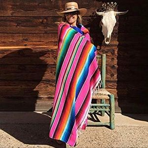 Accessories - 🌵NWT X-LARGE PINK SERAPE COVER UP⚡️YOGA MAT⚡️ETC.